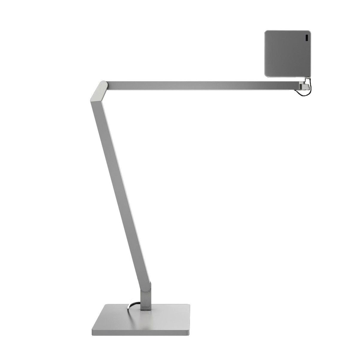 roxxane home led table lamp  nimbus  ambientedirectcom - nimbus  roxxane home led table lamp  silveranodisedwith table base