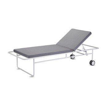 Skagerak - Fuori Sonnenliege - aschgrau/Stoff Barriere® Panama/Gestell aluminium/LxBxH 200x73x40cm