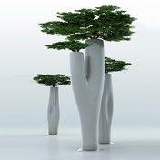 Serralunga - Missed Tree II Vase - weiß/lackiert