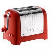 Dualit - Lite Toaster 2-Schlitz - rot/glänzend/klein/2-Scheiben