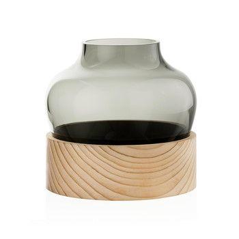 - Fritz Hansen Vase niedrig - rauch/H 18,5cm, Ø 16cm