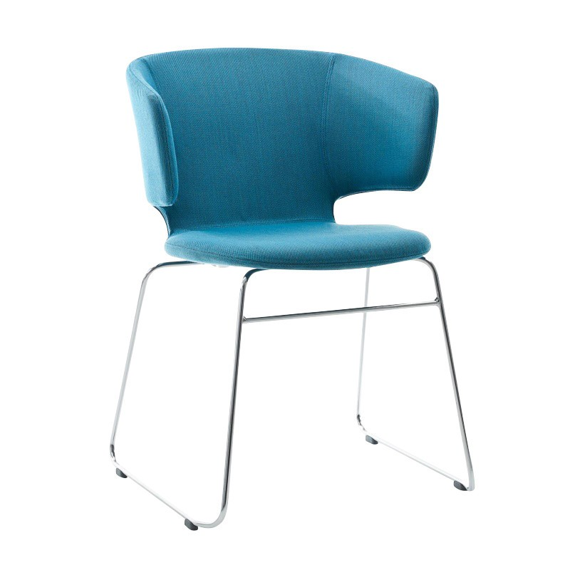 Alias   504 Taormina Armchair With Skids   Turquoise/Steelcut ...