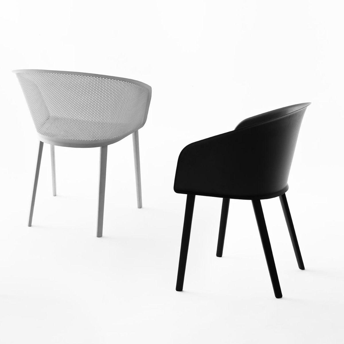 Stampa solid silla con reposabrazos kettal for Sillas de salon con reposabrazos