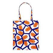 HAY - Tote Bag Tragetasche Tongues - blau/rot/gelb/weiss/37x42cm/Design: Natahlie Du Pasquier