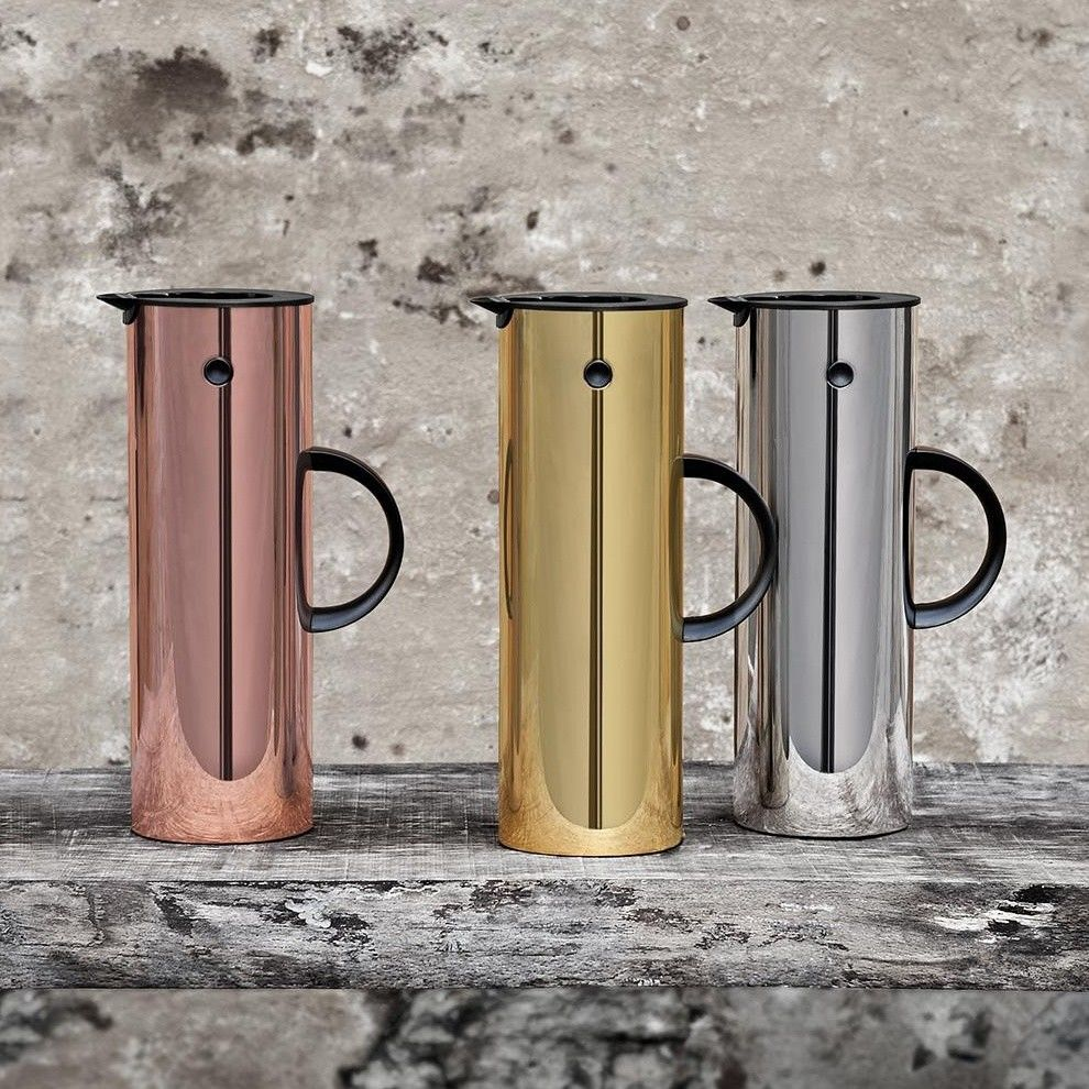 stelton vacuum jug hot metal edition 1l stelton. Black Bedroom Furniture Sets. Home Design Ideas