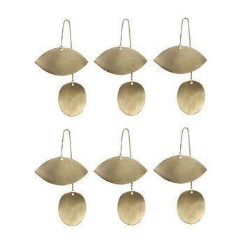 ferm LIVING - ferm LIVING Twin Eye Brass Ornament 6er-Set 6x 24221 - messing/BxH 6.5x11.5cm