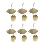 ferm LIVING - Twin Eye Brass  - Set de 6 ornaments feuille
