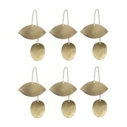 ferm LIVING - ferm LIVING Twin Eye Brass Ornament 6er-Set
