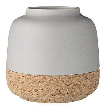 Bloomingville - Madita Vase  - matt grau/natur/Ø23xH22 cm