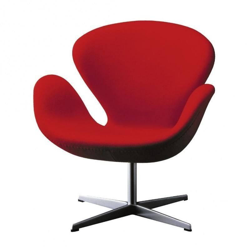 Fritz Hansen   Swan Chair Fabric   Red/fabric Divina ...