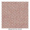 MDF Italia - Flow Slim Armlehnstuhl gepolstert New Edition 2 - rot/weiß/Schale weiß/Gestell Eiche/Stoff Monaco R315 Col. 443.007/B56 x T56 x H76.4 cm
