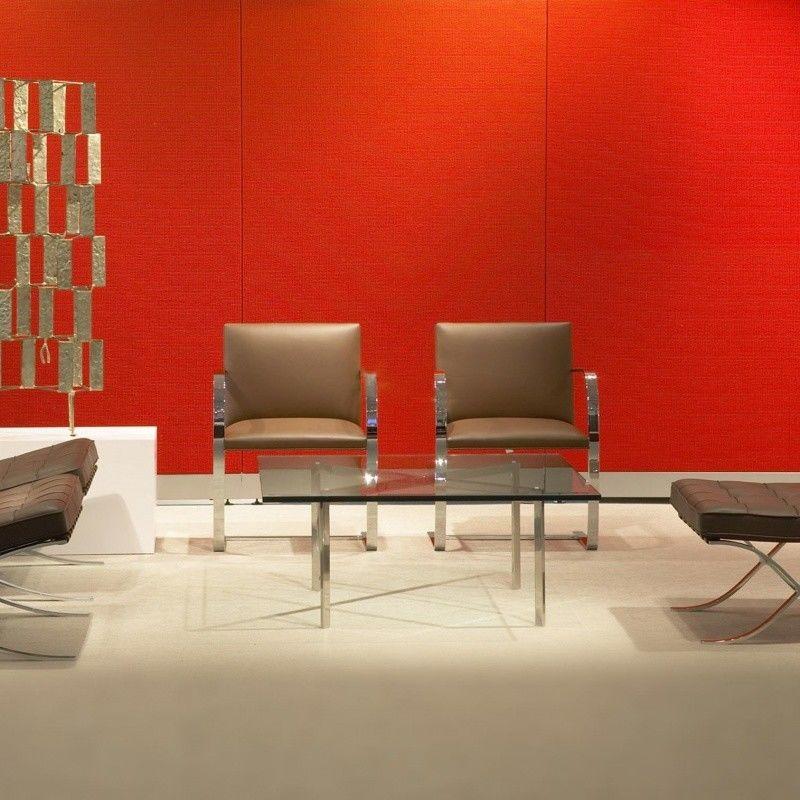 barcelona table de salon table basse knoll. Black Bedroom Furniture Sets. Home Design Ideas