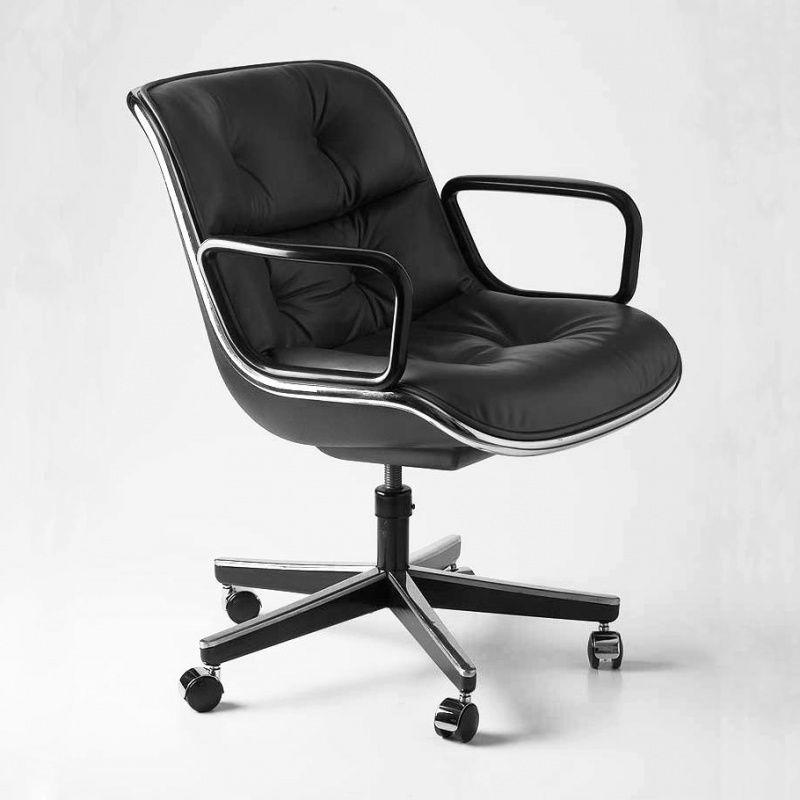 pollock fauteuil sur roulettes knoll international. Black Bedroom Furniture Sets. Home Design Ideas