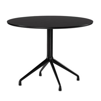 HAY - About a Table AAT20 Esstisch rund Ø100cm - schwarz/Tischplatte Laminat/Kante schwarz/4 Beine