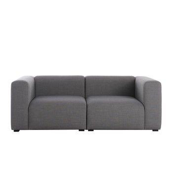 HAY - Mags 2 Sitzer Sofa 194x95.5x67cm - grau/Stoff Remix 133