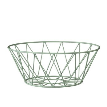 Bloomingville - Bloomingville Wire Aufbewahrungskorb - minzgrün/Ø25xH10 cm