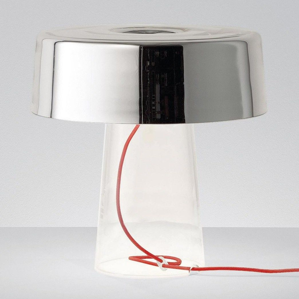 Prandina - Glam T3 Table Lamp - transparent/mirrored/glass/with dimmer/ - Glam T3 Table Lamp Prandina AmbienteDirect.com