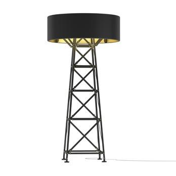 Moooi - Construction Lamp L Stehleuchte - schwarz/matt/Ø 90cm/mit Dimmer
