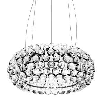 Foscarini - Caboche Media Sospensione LED-Pendelleuchte - transparent/3000K/3062 lm/inkl. Leuchtmittel/H 20cm/ Ø 50cm