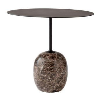 &Tradition - Lato LN9 Beistelltisch Platte Stahl Oval