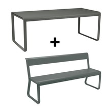Fermob - Bellevie Garden Set  with Bench with Backrest