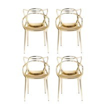 Kartell - Masters Metallic - Kit de 4 chaises