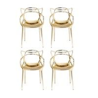 Kartell - Masters Metallic Chair Set Of 4