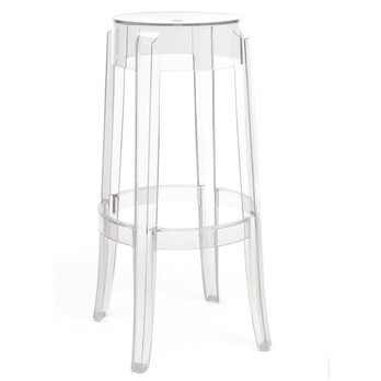Kartell - Charles Ghost Hocker 75 - transparent/Polycarbonat/75cm