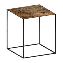 Zeus - Slim Irony Art Side Table 41x41x46cm
