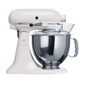 KitchenAid - Artisan 5KSM150 Küchenmaschine - weiß/lackiert/300W