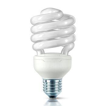 QualityLight - FLUO E27 Tornado 20W 827 - opal/Glas/Energieeffizienzklasse a/Gewichteter Energieverbrauch 20 kW/1000 h