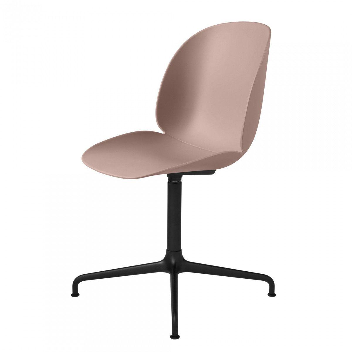 beetle dining chaise pied en croix noir gubi. Black Bedroom Furniture Sets. Home Design Ideas