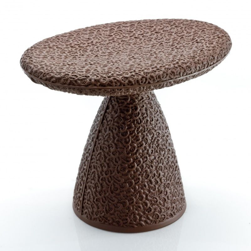 Moroso   Shitake Stool / Side Table   Chocolate Brown