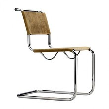 Thonet - S 33 Pure Materials  Cantilever Chair buffalo leather