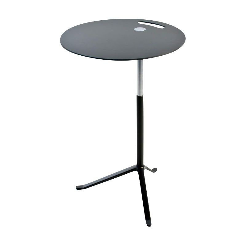 Fritz Hansen   Little Friend Side Table Frame Lacquered   Black/height  Adjustable 50