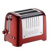 Dualit - Lite Toaster 2-Schlitz - metallic rot/glänzend/klein/2-Scheiben