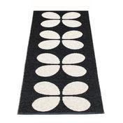 pappelina - Aki Plastic Rug 70x140 cm - black/vanilla