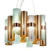 Slamp - La Lollo LED-Pendelleuchte - kupfer/grün/2700K/1100L/H 35cm/Ø48cm