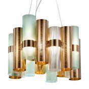 - La Lollo LED-Pendelleuchte - kupfer/grün/2700K/1100L/H 35cm/Ø48cm