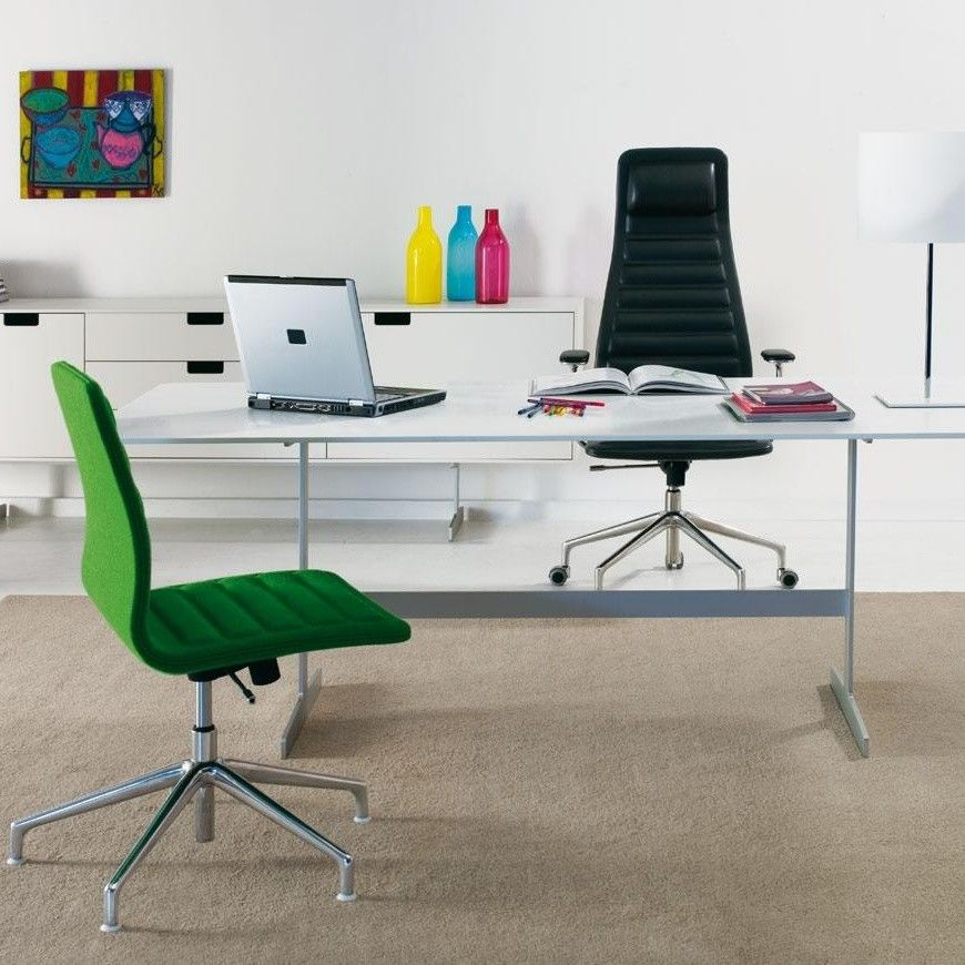 Lotus high chaise de bureau avec roulettes cappellini - Chaise de bureau confort ...