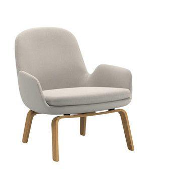 Normann Copenhagen - Era Lounge Sessel Eichengestell - creme Stoff Fame 60005/Gestell Eiche/H x B x T: 77 x 72 x 72cm