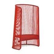 - Husk L Sessel - rot/handgeflochten/Fußgleiter verstellbar aus Polypropylen/100x140x70cm/Gestell Stahl lackiert