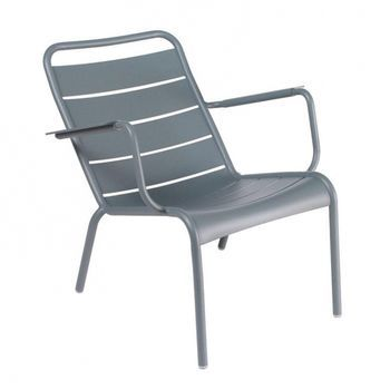 Fermob - Luxembourg Tiefer Sessel - gewittergrau/lackiert/tief