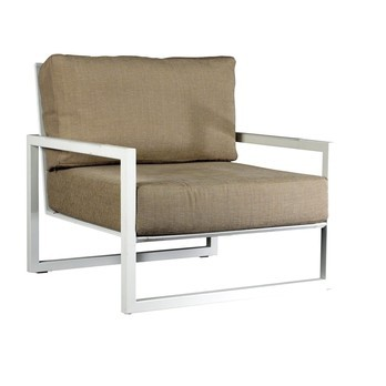 Royal Botania - Ninix 100 Lounge Sessel - Einzelstück - cappuccino/BxHxT 83x81x83cm/Gestell edelstahl
