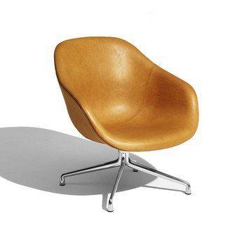 HAY - About a Lounge Chair AAL81 Ledersessel - cognac/Leder Silk/Gestell aluminium/76x81x73cm