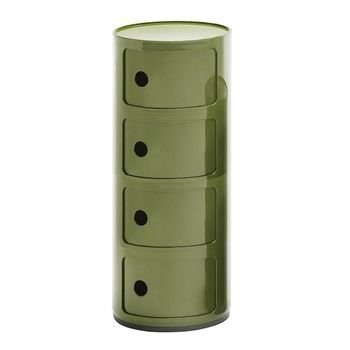 Kartell - Componibili 4 Container - grün/matt/H 77cm/ Ø 32cm/Neue Farbe!