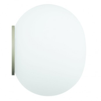 Flos - Mini Glo Ball C/W Wand-/Deckenleuchte - weiß/ Ø11cm/matt