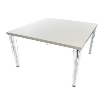 Kartell - Top Top Esstisch 130 - weiß/glänzend/130x130cm