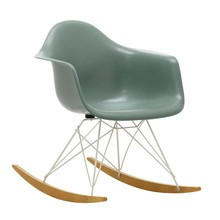 Vitra - Eames Fiberglass RAR schommelstoel onderstel wit