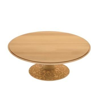 Alessi - Dressed in Wood Tortenplatte hoch - buche/Reliefdekor/Ø 31,5cm